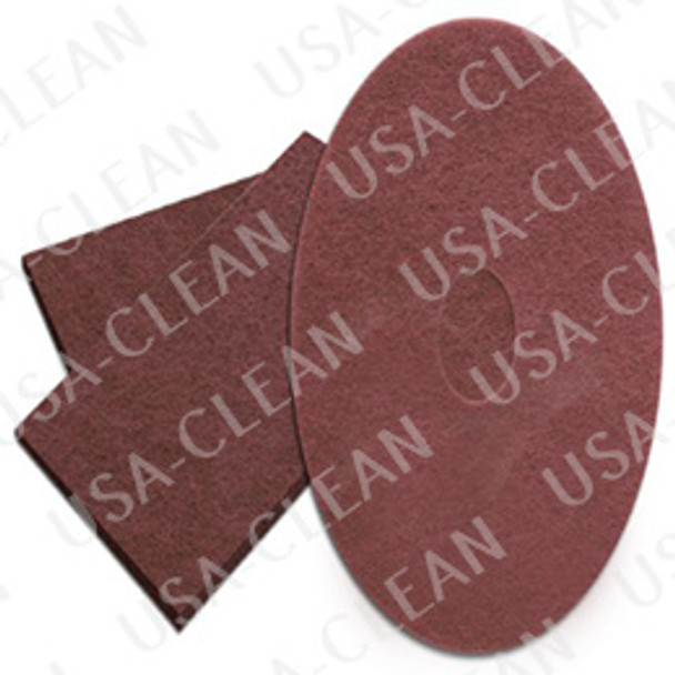 17 inch Redwood maroon floor prep pad (pkg of 10) 255-1747