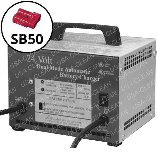 Lester 12A battery charger with SB50 red plug