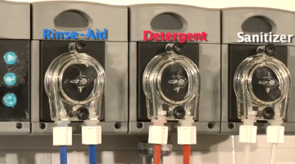 Check lines for detergent, rinse aid, and sanitizer.