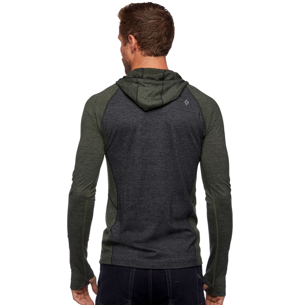 Solution Wool Baselayer Half Zip Hoody - Men's
