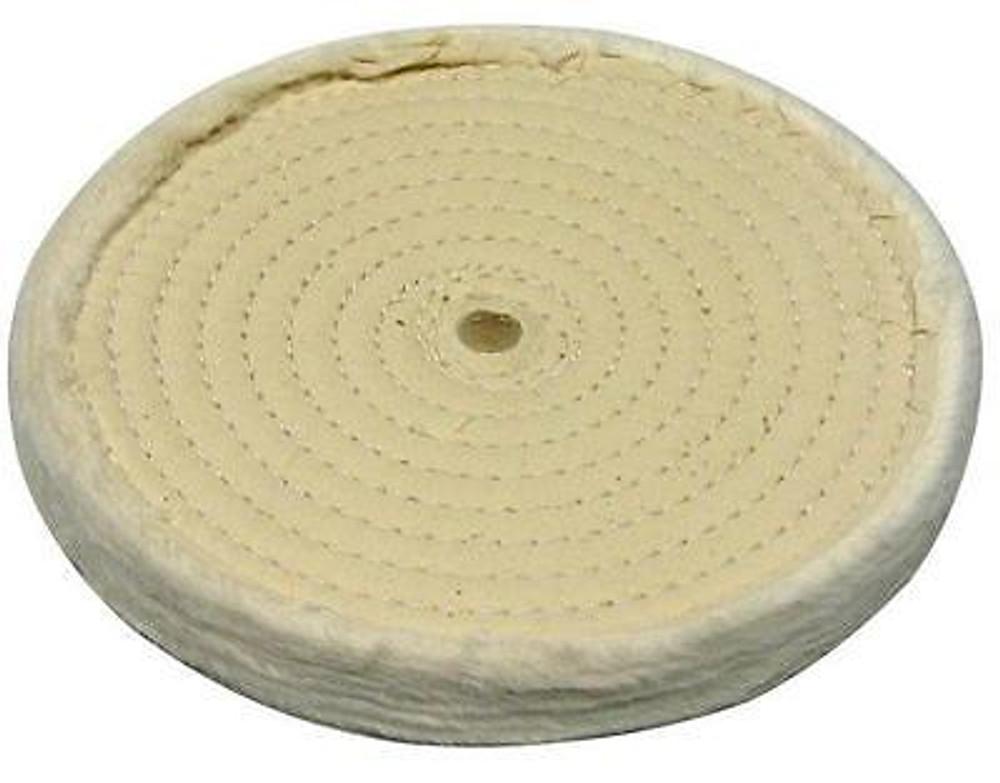 "Zephyr 8"" Cotton Muslin Polishing Wheel 60 Ply 3/8"" Stitching"