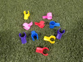 """10 pack of Multi-Color Lg Clip on Jump Cups for 1"""" & 1 1/4"""" pipe"""