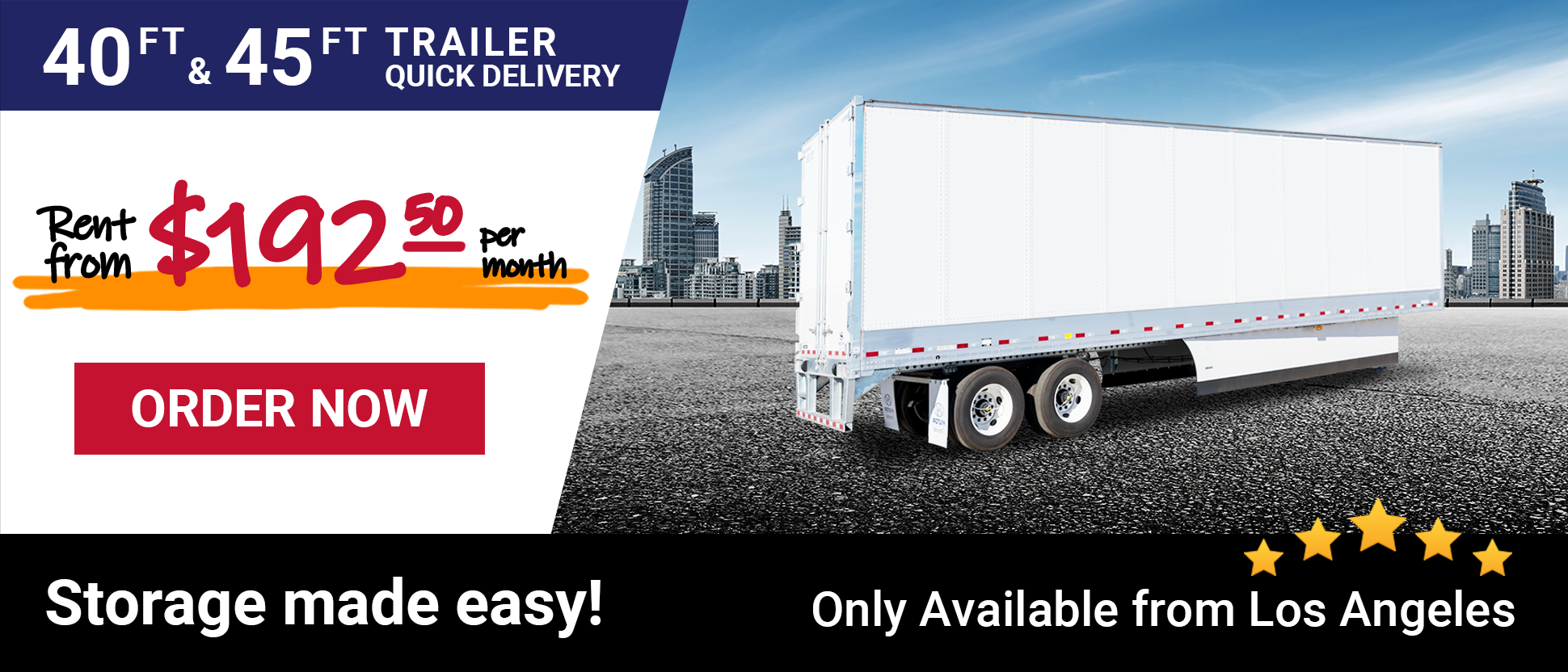 Storage Trailers Rent from $192.50