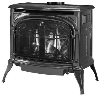 Vermont Casting Radiance DV Gas Stove, Classic Black