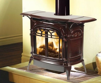 Vermont Casting Radiance IFT Gas Stove, Majolica Brown Enamel