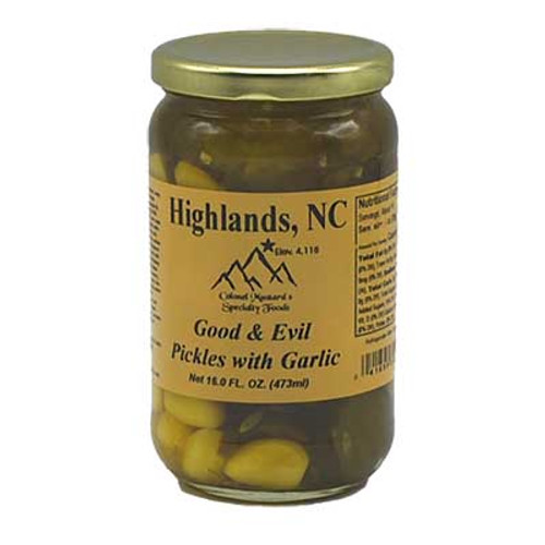 Good and Evil Pickles with Garlic 16 oz