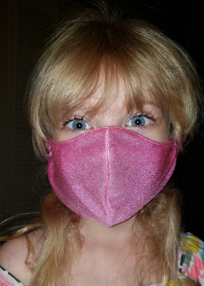 Child size personal protection mask - Matches Romy and Michele dress