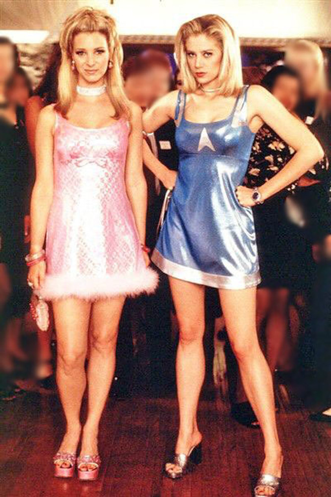 "Medium Iridescent Blue dress from ""Romy & Michele's High School Reunion"" movie CLEARANCE"