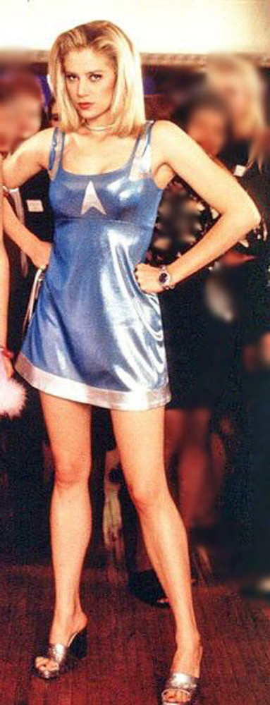 "Custom blue dress from the movie ""Romy & Michele's High School Reunion"" by Suzi Fox."