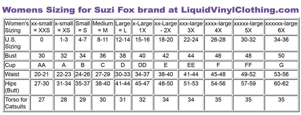 Standard size chart.