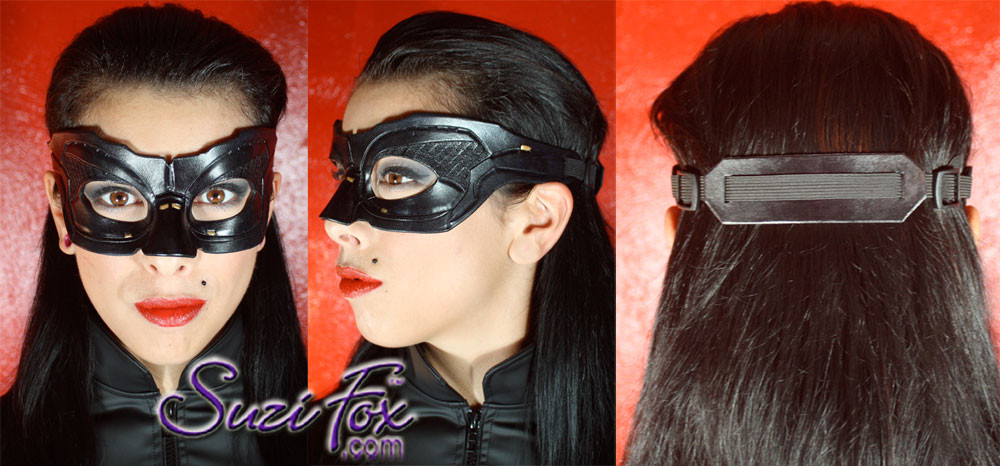 Custom handcrafted, leather mask included. Adjustable. gorgeous workmanship.