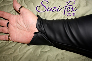 Optional Wrist zippers if you choose long sleeves.