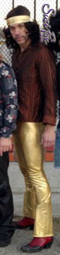 Customer picture! Wayward Sons band in Gold Metallic Foil bootcut pants by Suzi Fox!