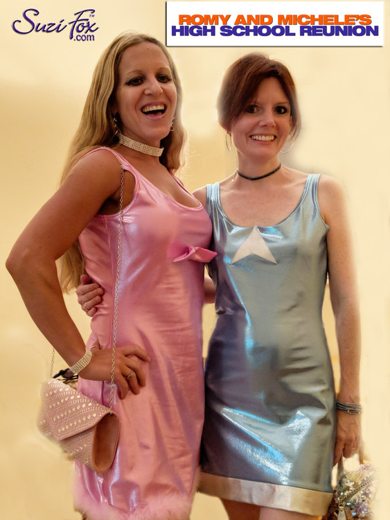Customer picture! Romy and Michele dresses by Suzi Fox