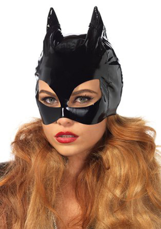 Custom hood with cat ears by Suzi Fox. Great for Catwoman costume!
