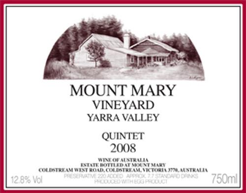 Mount Mary Quintet Cabernet Blend 1990 Yarra Valley, Victoria Australia
