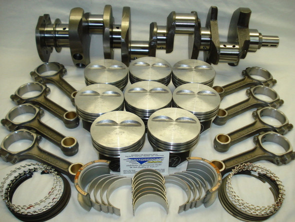 "383 Stroker Balanced Rotating Assembly 5.7"" Rods, Hyperutectic Pistons Flat Top, For '57-'85 2 Piece Rear Main Seal Blocks"