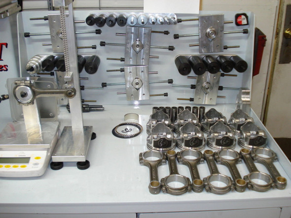 "383 Stroker INTERNAL BALANCED Rotating Assembly Scat 5.7"" Rods, Eagle Crankshaft Speed Pro Pistons, 2 Piece Rear Main Seal"