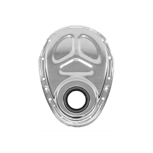 490 - PBM Performance - Heavy Duty Steel Timing Cover - Ribbed for Cam Button - No Timing Tab