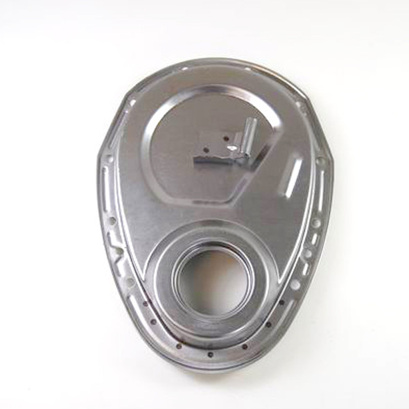 493 - PBM Performance - SBC Standard Duty Steel Timing Cover - with Timing Tab