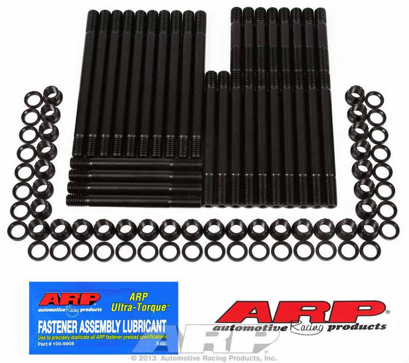 235-4323 Cylinder Head Studs, Pro Series, 12-point, 8740 Chromoly, Black Oxide, Washers