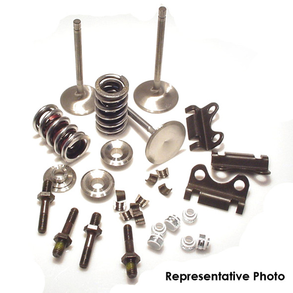 "Solid Roller Valve Train Kit, With ""COMPETITION SERIES"" Valves 11/32"" STEM DIA, 1.640"" Erson (FSP) Valvle Springs .880"" Lift,  Titanium Retainers"