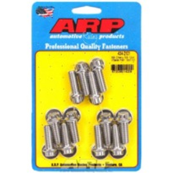 "ARP 434-2101 Small Block Chevy Intake Bolts, 265 - 400 cid, 1.000"", Stainless, 12 Point Head"
