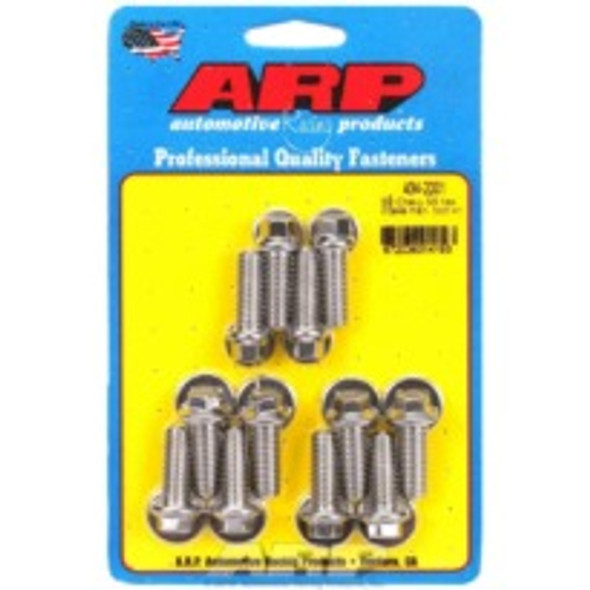 "ARP 434-2001 Big Block Chevy Intake Bolts, 396-454, 1.250"" U.H.L, Stainless, Hex Head"