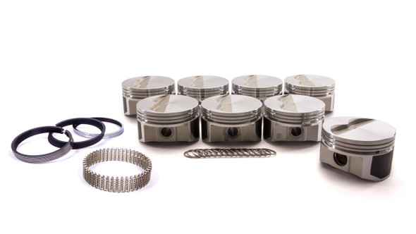 """Wiseco Pro Tru Piston and Ring, 355 Cubic Inch, 23 Degree Flat Top, Forged, 4.030"""" Bore, 1.560"""" Compression Height, 1/16 x 1/16 x 3/16 in Ring Grooves, Minus 5.0 cc, Small Block Chevy - PTS503A3"""