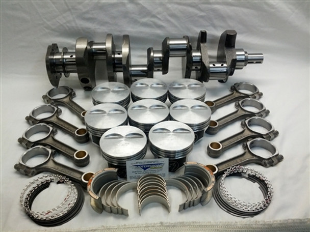 "383 Stroker Small Block Chevy, Rotating Assembly, Cast Steel Crank, New 5.700"" Rods, Fits '57-'85 2Pc Rear Seal Blocks"