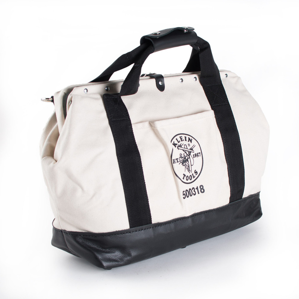 """Klein Tools 18"""" Canvas Pocketed Toolbag"""