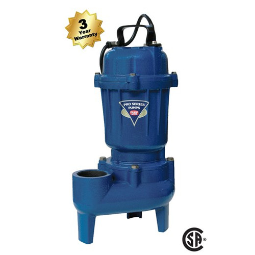 Pro Series E7055 1/2 HP Sewage Pump (3 yr war) (PUMP ONLY)