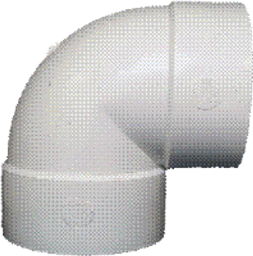 "S & D 4"" PVC 90 Elbow (HxH)"
