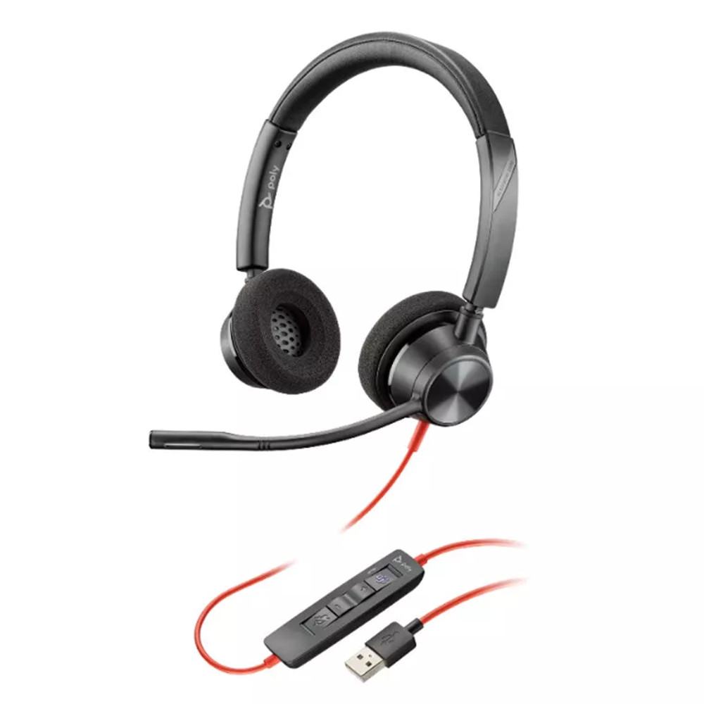 Poly Blackwire C3220 USB-A Stereo headset