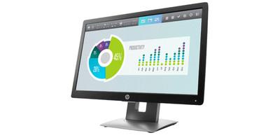 HP EliteDisplay E202 20 inch - HD+ VGA HDMI DisplayPort USB 2 hub