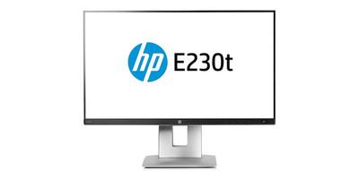 HP EliteDisplay E230t 23 inch Touch Screen - Full HD VGA HDMI DisplayPort USB 3 hub