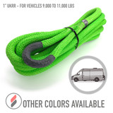 """1"""" Ultimate Kinetic Recovery Rope (33,500 lb MTS, 11,000 lb WLL) (compare at $210)"""