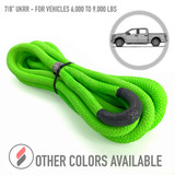 """7/8"""" Ultimate Kinetic Recovery Rope (28,300 lb MTS, 9,000 lb WLL)"""