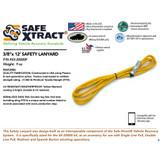 "SX-20000F Safety Lanyard (3/8"" x 12') (17,500 lb MTS)"