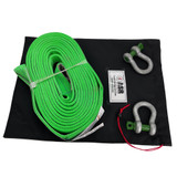 """2"""" ASR Poly Flat Strap (MTS 31,000 lbs) w two 3/4"""" Green Pin Shackles"""