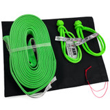 """2"""" ASR Poly Flat Strap (31,000 lb MTS) w two 3/8"""" Soft Shackles"""