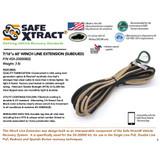 "SX-20000B(S) Winch Line Extension (7/16"" x 60') (21,000 lb MTS)"