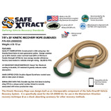 """SX-20000D(S) 7/8"""" x 20' Kinetic Recovery Rope (28,300 lb MTS)"""