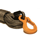 """Gray 7/16"""" Synthetic Winch Rope with HD Excel Sling Hook"""