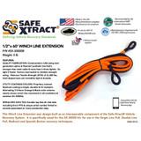 "SX-30000B Winch Line Extension (1/2"" x 60') (31,300 lb MTS)"