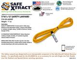 "SX-40000F Safety Lanyard (7/16"" x 12') (21,000 lb MTS)"
