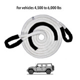 """3/4"""" Kinetic Recovery Rope (19,000 lb MTS, 6,000 lb WLL)"""