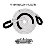 """7/8"""" Kinetic Recovery Rope (28,300 lb MTS, 9,000 lb WLL)"""