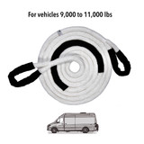 """1"""" Kinetic Recovery Rope (33,500 lb MTS, 11,000 lb WLL)"""