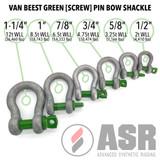 Van Beest Green [Screw] Pin Bow Shackles